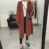 Casual Long Cardigan Sweater Women Autumn Winter Solid Plus Size Knitted Coat Female Fashion Pockets Cardigan Jackets Korean Top