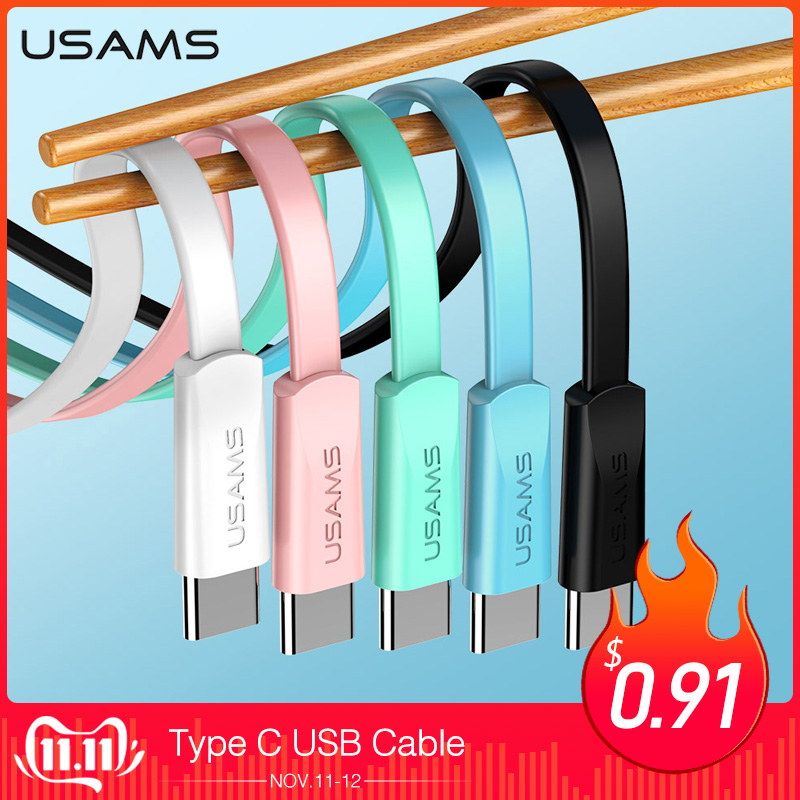 USAMS Type C usb Cable Fast Charging Cable for Samsung Xiaomi Mobile Phone Cable USB C TypeC Charge Data Cord for Huawei Oneplus-in Mobile Phone Cables from Cellphones & Telecommunications on AliExpress - 11.11_Double 11_Singles' Day