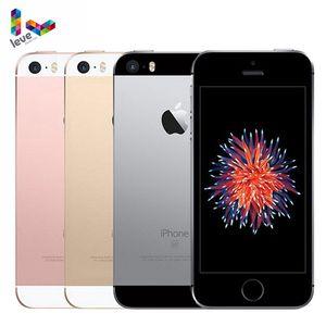Разблокированный смартфон Apple iPhone SE, 12 МП, 4 дюйма, сканер отпечатков пальцев, двухъядерный, 4G LTE, 2 Гб ОЗУ 16/64 Гб ПЗУ, мобильный телефон б/у