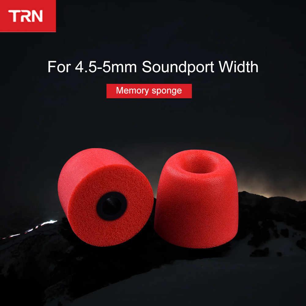 1Pairs (2 sztuk) TRN słuchawki pamięci bawełniane nauszniki przewlekłe odbicia zatyczki do uszu gąbka pu gąbka słuchawki nauszniki v80 v20 v10