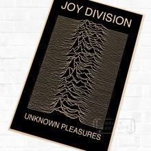 Unknown Pleasures Joy Division 1979 diseño Retro Vintage de póster decorativo DIY pegatinas de pared pósteres casa Decoración Para Bar