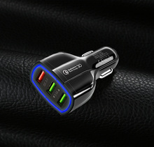 QC 3.0 3 USB Car Charger Quick Charge 3-Ports Fast for Phone Charging Adapter Huawei iPhone