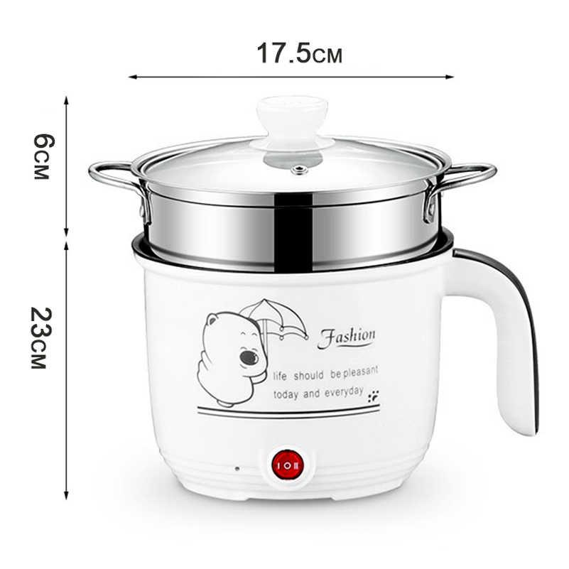 Cuiseur de riz antiadhésif blanc de forme de tambour de multicuiseur de 1.8L Mini pour le dortoir d'étudiant