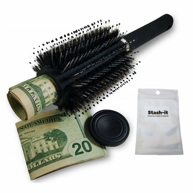 Hair Brush Diversion Safe Stash Can Diversion Can Secret Container Stash Safe Box Hidden Safe with a food grade smell proof bag