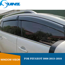Window Shield Cover For PEUGEOT 3008 2013-2018 Air Vent Visor 2013 2014 2015 2016 2017 2018 SUNZ