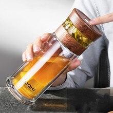 400ml Portable Double Wall Borosilica Glass Tea Infuser Bottle of Wate