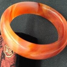 Красивый женский браслет китайский оранжевый узор ручной резной браслет 54-63 мм KYY8905