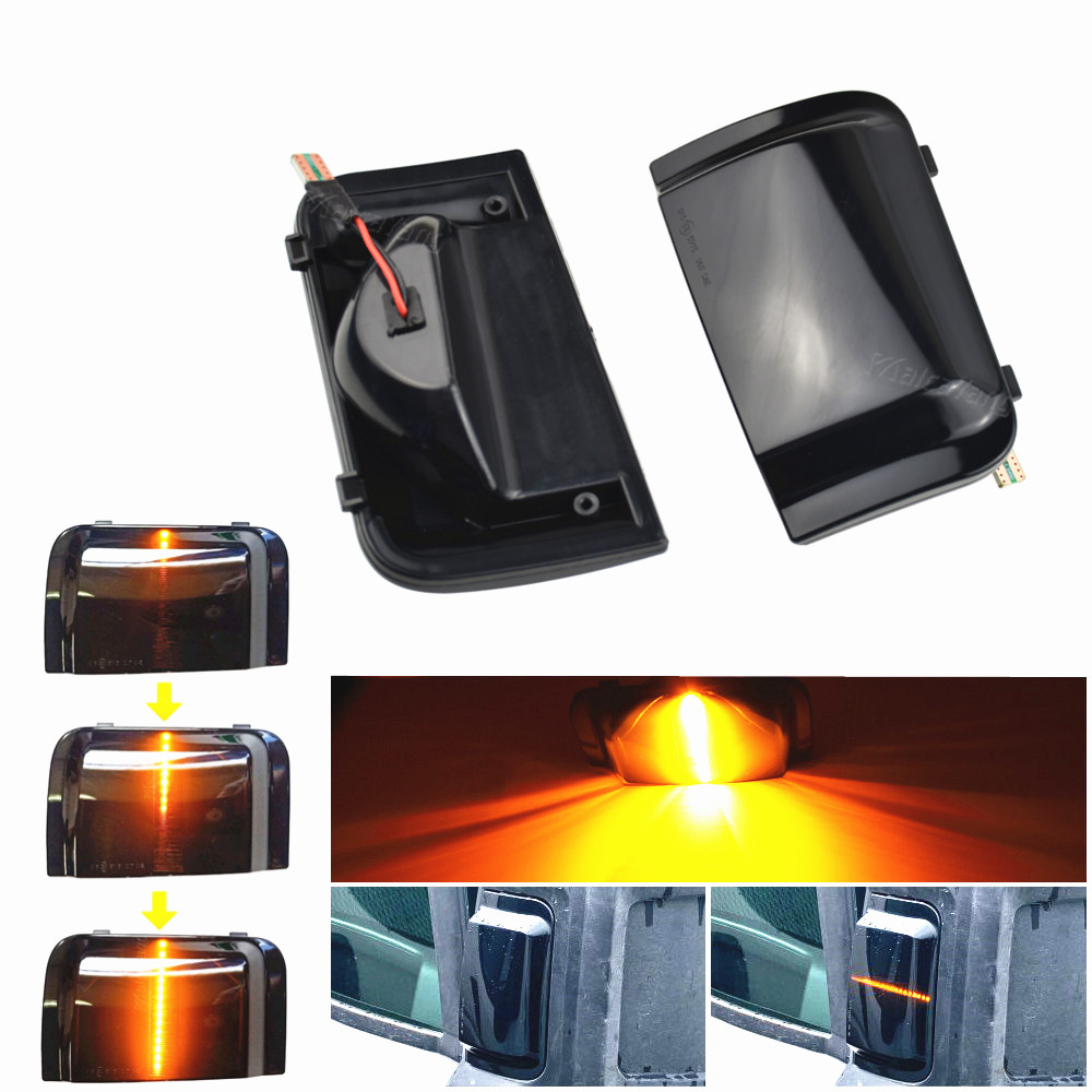 Asa lateral espelho retrovisor indicador de fluxo dinâmico indicador led transformar a luz do sinal para peugeot boxer fiat ducato citroen jumper