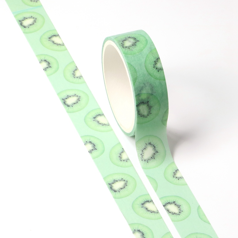 NEW 1X Cute Kiwi Washi Tape Fruit For DIY Diary Planner Scrapbooking Decorative Masking Tape School Office Supplies