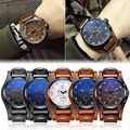 Fashion Casual Men's Watches Top Brand Luxury Business Quartz Watch Faux Leather Date Waterproof Wristwatch Watch Clock Relogio