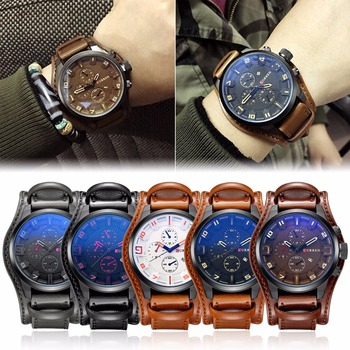 Fashion Casual Mens Watches Top Brand Luxury Business Quartz Watch Faux Leather Date Waterproof Wristwatch Clock Relogio