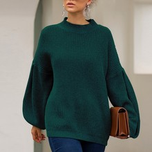 women pullovers knitwear sweater Knitted Solid Pullover Long Sleeve O-Neck Loose Harajuku Slim Sweater Female Tops 9.18