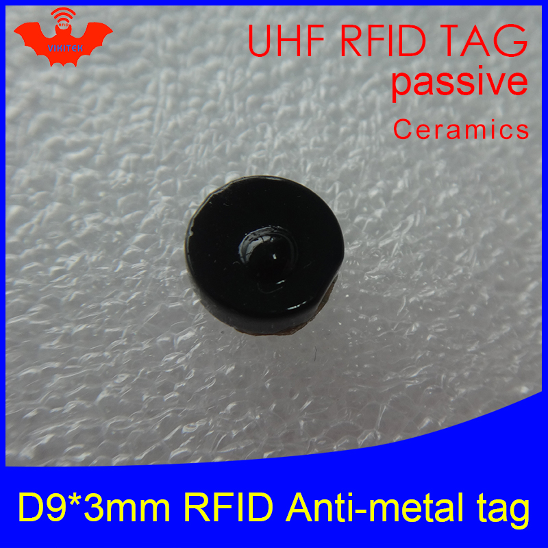 UHF RFID Anti-metal Tag 915mhz 868mhz Alien Higgs3 EPCC1G2 6C D9*3mm Very Small Circular Ceramics Smart Card Passive RFID Tags