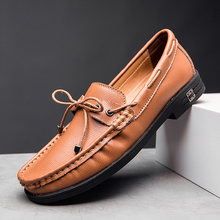 CASOIPRA Casual Loafers Men Genuine Leather Moccasins Homme Driving Shoes Luxury Slip On Boat Shoes Mocasines Hombre 38-47 eofk brand autumn women loafers moccasin homme casual suede leather shoes moccasins slip on woman shoes mocasines