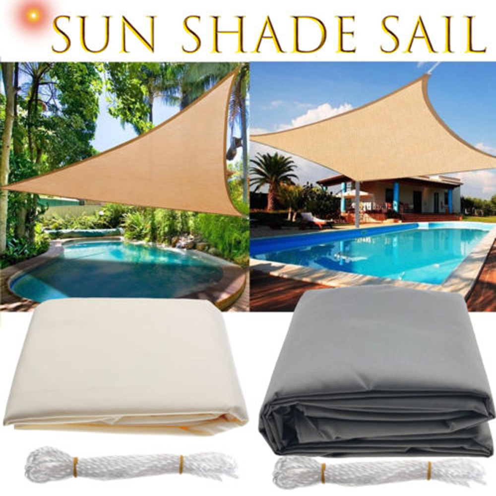 Wasserdicht Sun Shelter Dreieck Sonnenschirm Schutz Outdoor Baldachin Abdeckung Garten Terrasse Pool Sonnensegel Markise Camping Sonne Schatten