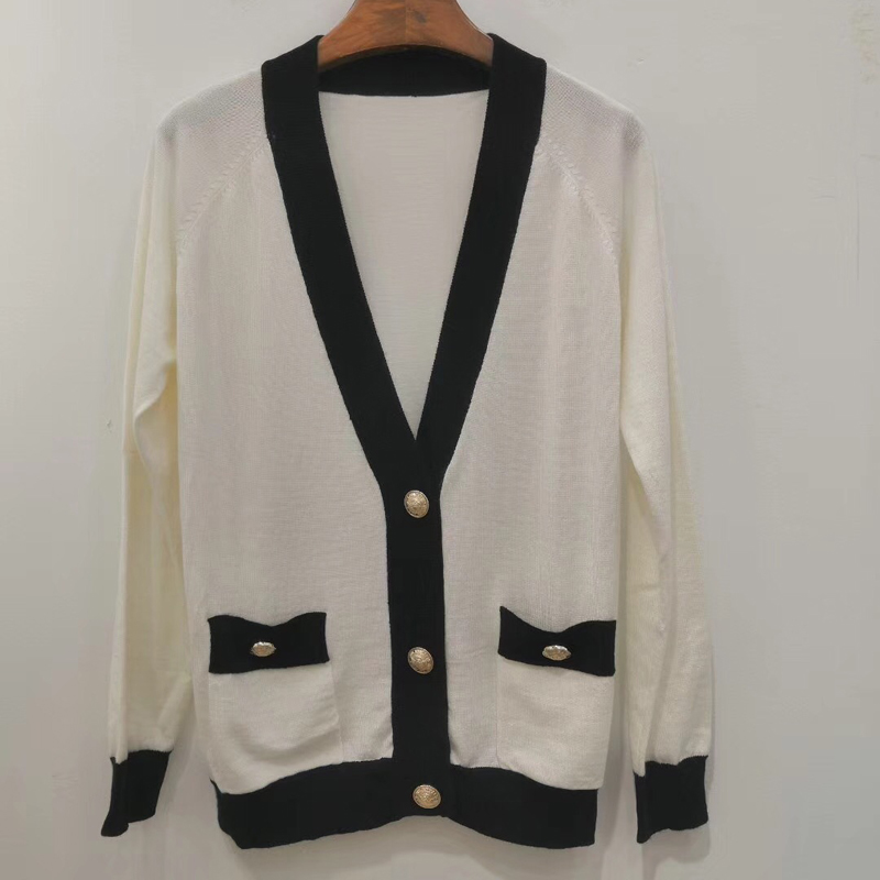 Femmes tricoté Cardigan manteau automne hiver 2019 décontracté col en v à manches longues Crochet tricot chandail manteau femmes hauts