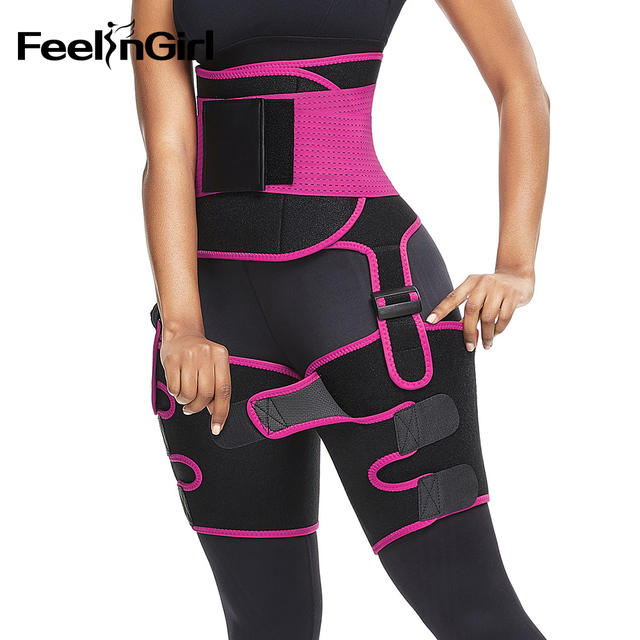 FeelinGirl Neoprene Thigh Trimmer Leg Shapers Slimming Belt Sweat Waist Trainer Weight Loss Workout Corset Thigh Slimmer Strap 1
