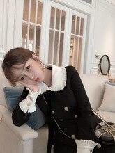 Spring 2019 Korean Version of The Little Doll Collar Black Dress Socialite Temperament Slim dress Fashion Women