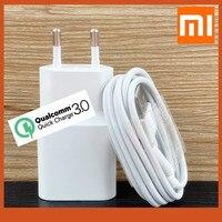 Carregador originale Xiaomi Fast Charger 18W EU Quick Wall Charge Power Adapter cavo Usb tipo C per mi 8 9 se a2 a1 9t k20 pro