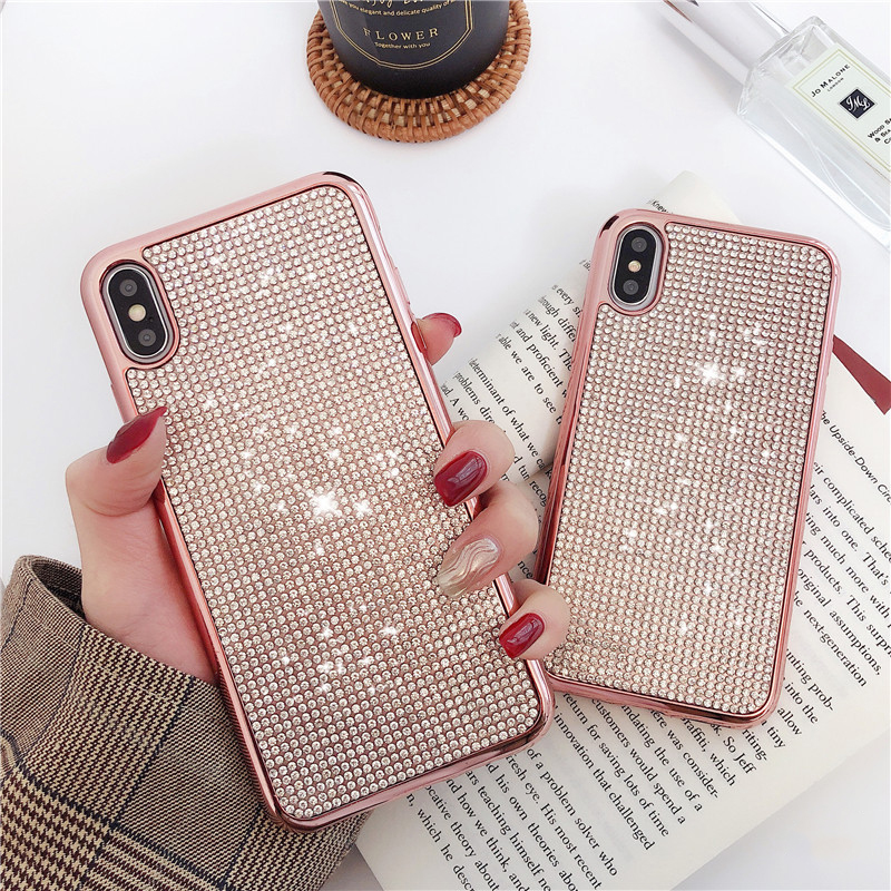 Fashion Diamond <font><b>Case</b></font> For <font><b>Samsung</b></font> Galaxy S10 E S9 S8 Plus <font><b>S7</b></font> <font><b>Edge</b></font> S7Edge S8Plus S9Plus S10Plus <font><b>Silicone</b></font> Phone Bling Luxury Cover image