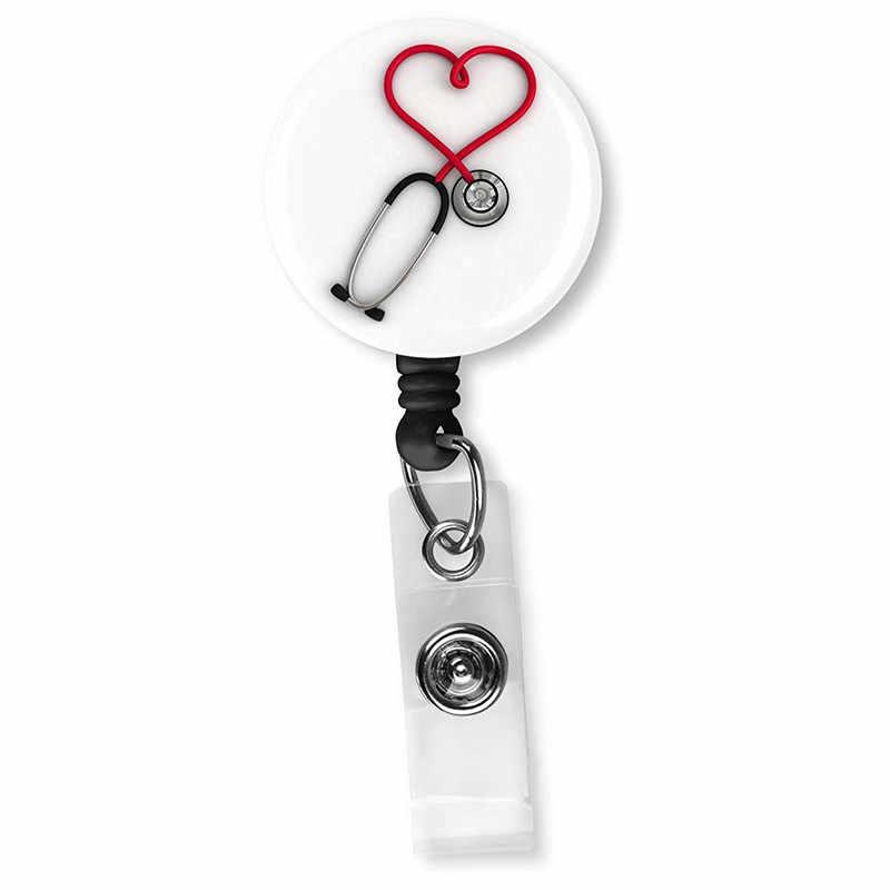 Chegada nova Top Quality Médico Enfermeira Retrátil Carretel Crachá Moda bonito Dos Desenhos Animados Estudantes ID Card Badge Holder