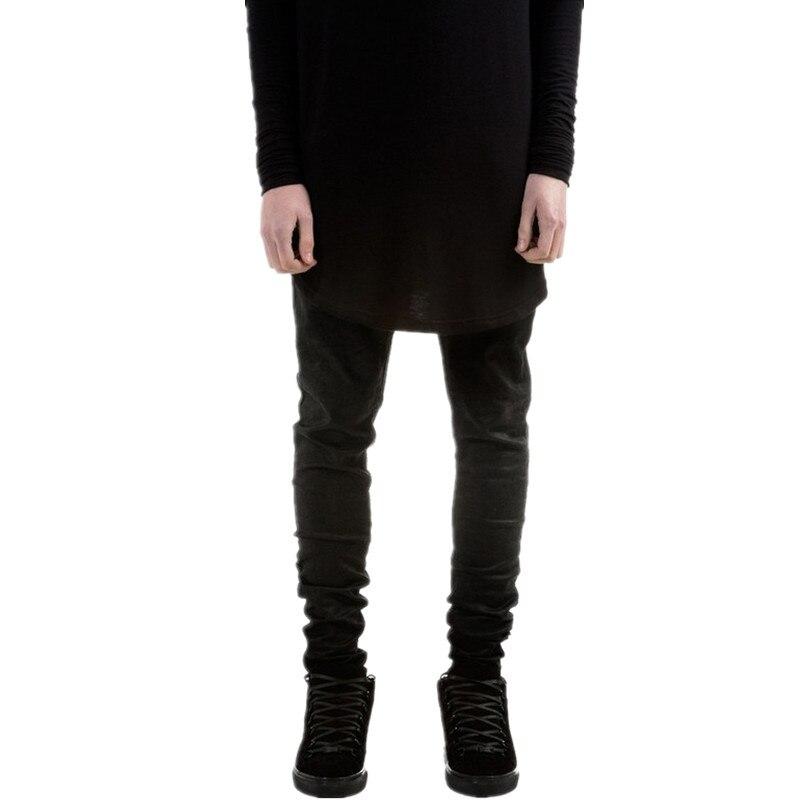 Fashion Mens Black Skinny Jeans Pants Hi-Street Hip Hop Swag Men Denim Joggers Pants Famous Brand Designer Men Trousers