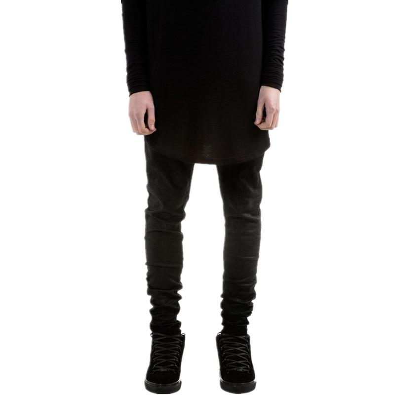 New Fashion Mens Black Skinny Jeans Pants Hi-Street Hip Hop Swag Men Denim Joggers Pants Famous Brand Designer Men Trousers
