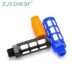 1/8 1/4 3/8 1/2 Air Silencer Plastic Exhaust Muffler for Misting Pump Pneumatic Male Thread Absorb Noise Filter Slip Lock
