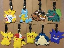 Etiqueta da bagagem do pokemon do cartão de embarque do pokemon da tartaruga da lama do dragão