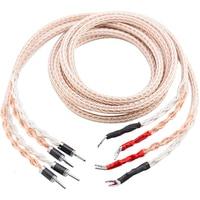 12TC Speaker Cable OCC Copper Audiophile speaker cable HIFI Banana to spade loudspeaker cable