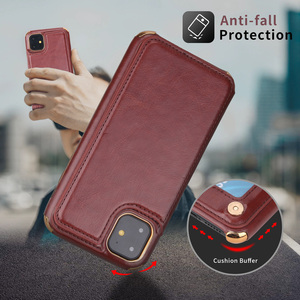 Чехол-кошелек для iphone 11, чехол для телефона 6 7 8 plus X XR XsMax 11Pro Max из натуральной кожи, многофункциональные магнитные чехлы