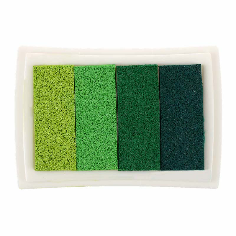 Inkpad Craft Multi Gradient Green 4 x Colors Ink Stamp Pad Oil Based in Stamps from Home Garden