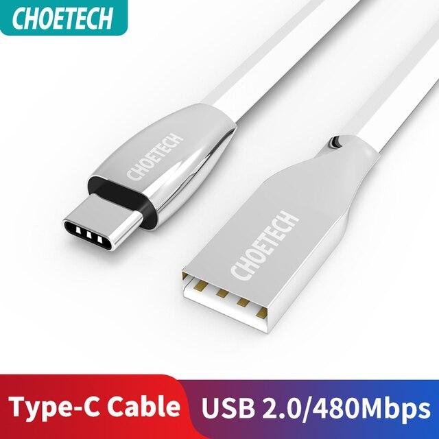 CHOETECH C tipi kablo USB A erkek USB C için hızlı şarj C tipi samsung USB kablosu S9/S8/not 8 bir artı cep telefonu kabloları