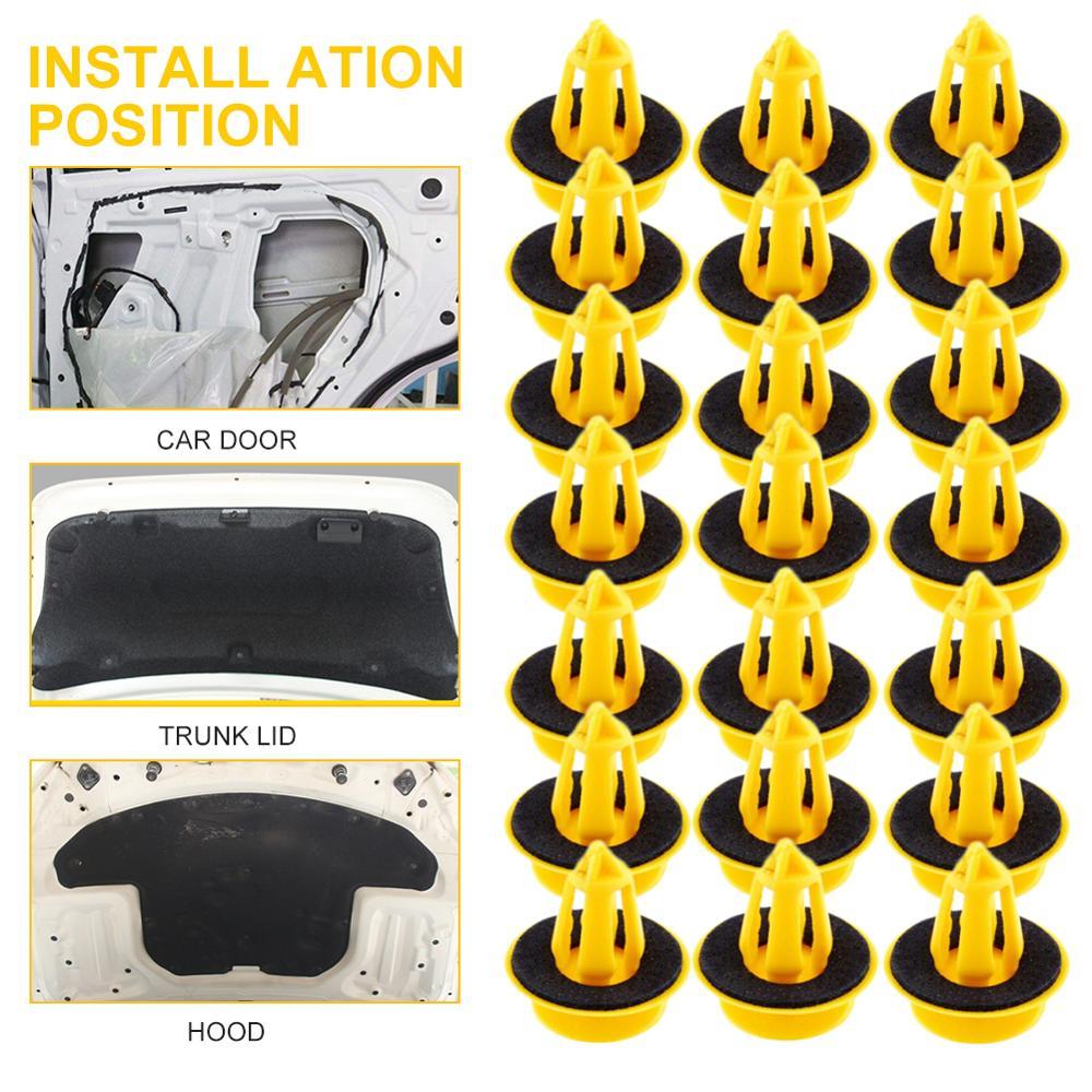 50 шт., пластиковые фиксирующие клипсы для автомобильных панелей