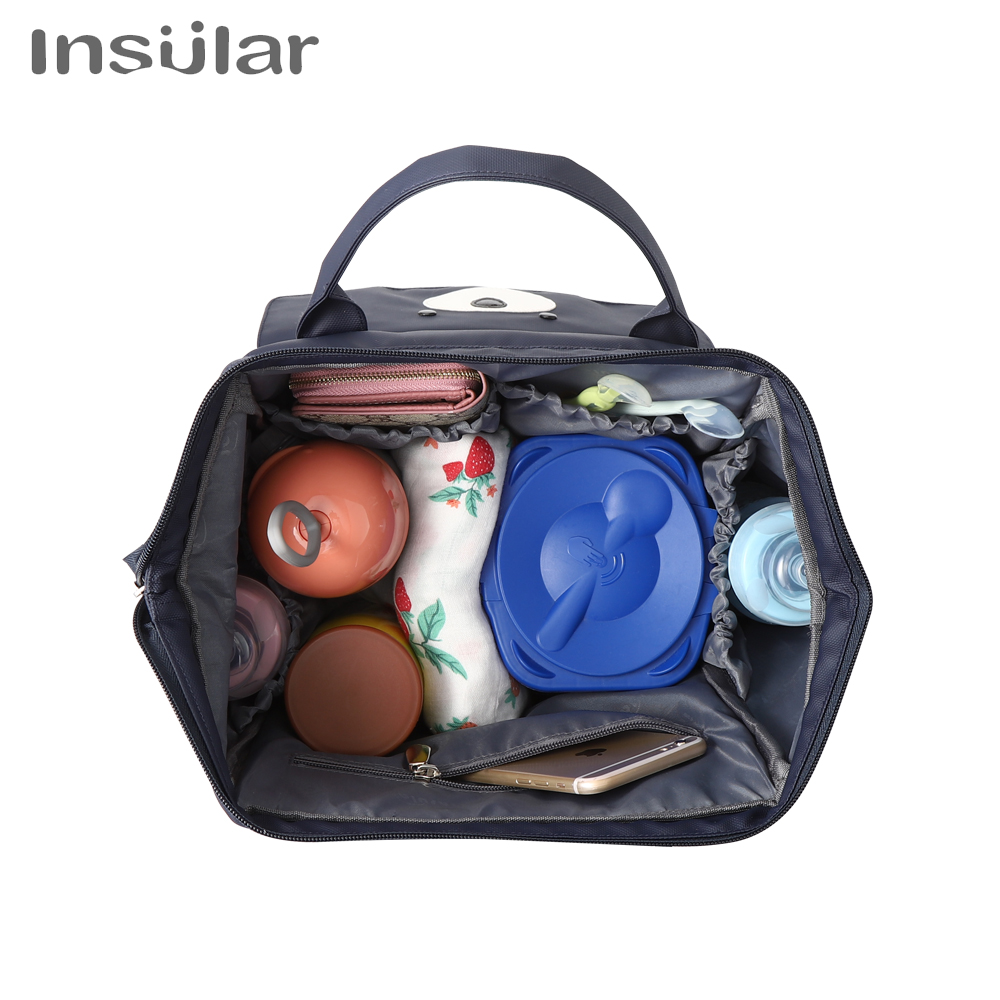 INSULAR diaper bag Multifunctional Mummy Backpack Handheld Large Capacity Baby bag Mummy Maternity Nappy Bag