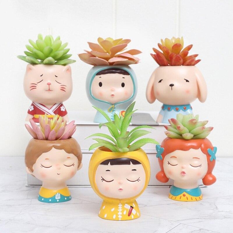 Creative Grut planter basin Bonsai Pot mini PVC pokemon flower pot Fashion Succu