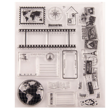 Transp arent Stamps New Travel sign 2020 Rubber Silicone Seal for DIY Scrapbooking Card Making Album Decoroation Crafts