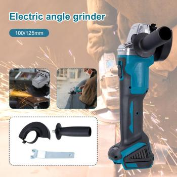 18V 800W 100mm/125mm Brushless Cordless Impact Angle Grinder DIY Power Tool Cutting Machine Polisher Without For Makita Battery 800w 220v 100mm portable electric angle grinder muti function household polish machine grinding cutting polishing machine