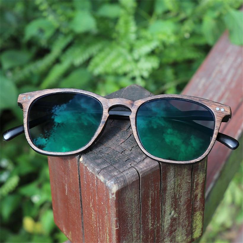 NYWOOH Finished Myopia Glasses Women Men Photochromic 1.56 Aspherical Lenses Imitation Wood Frame Student Shortsighted Eyewear