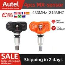 100% Original Autel TPMS MX-Sensor 433MHz 315MHz Universal Mx Sensor 433 315 Tire Pressure Sensor Programmer Relearn Reset 4pcs