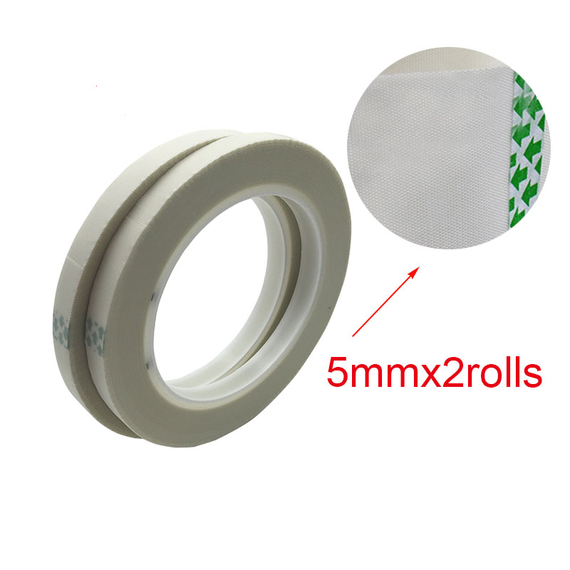 2PCS 5mm Silicone Adhesive Fiber Glass Cloth Tape No Residue White Fiber Glass Cloth Electrical Tape For Coil Wrapping