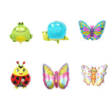 Insect Series Foil Balloons Butterfly Ladybug Balloon Baby Shower Party Decoration Helium Balloon Kid Toy Birthday Party Balloon balloon and butterfly бежевое платье с драпированным подолом сorinne