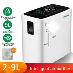 2L-9L Oxygen Generator with Atomization Oxygen Concentrator Generator Air Purifier 110V 220V English Manual DE-2SW In Stock Now