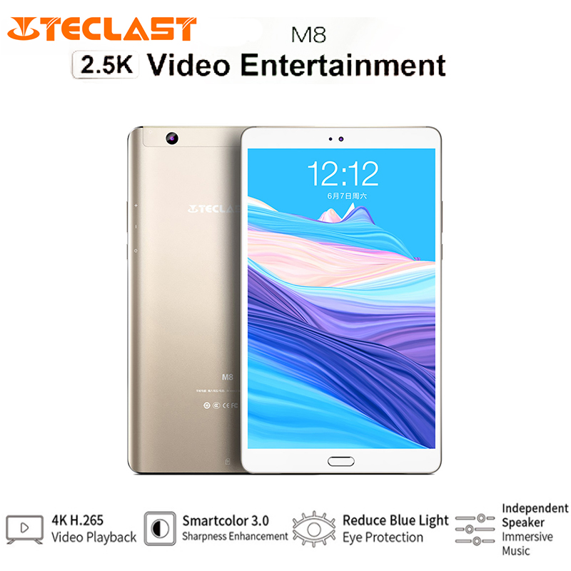 Teclast M8 8.4'' 2560*1600 Touch Screen Tablet PC Android 7.1 Allwinner A63 Quad Core 3GB+32GB 2MP Camera Support GPS Type-C MIC