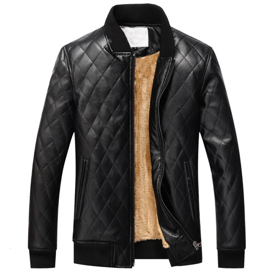 High Quality Winter Jackets Men Leather Slim Outwear Bomber Jacket PU Motorcycle Leather Jacket Men Fur Coat Dropshipping