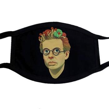 Aldous Huxley-mascarilla con diseño artístico, PM2.5