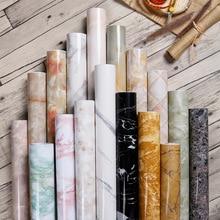 Marble Wallpaper Living-Room-Furniture Self-Adhesive Vinyl Renovation Waterproof Solid-Color