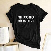 MI Cono mi s normas drukowanie kobiety t koszula moda O-Neck Casual z krótkim rękawem topy letni t-shirt koszulki z nadrukami kobiety 2020 ubrania