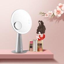 Iluminado Espelho de Maquiagem profissional com 5X Lupa Luzes LED Recarregável Lâmpada de Mesa Espelho de Vaidade e Médica 5W Grande Presente