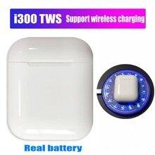 i300 TWS Bluetooth 5,0 гарнитура 6D бас сенсорное управление беспроводные наушники для всех смартфонов PK i20 i60 i80 i90